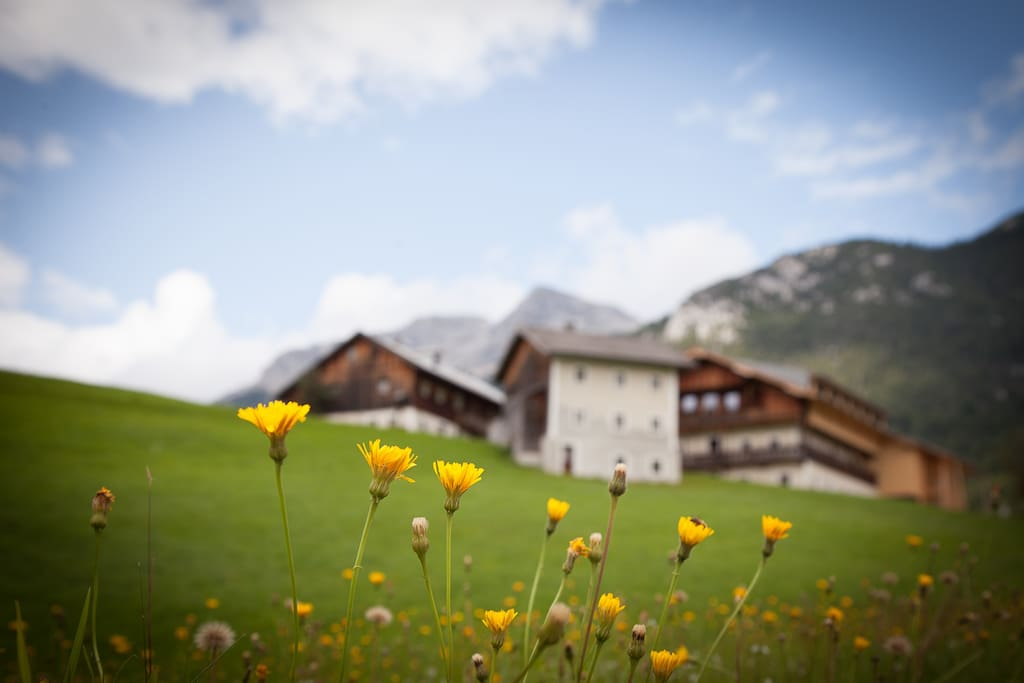 Wow! This really an unique Tyrolean farmhouse ensemble, 400y old, rough but top renovated and only 90km from Munich.