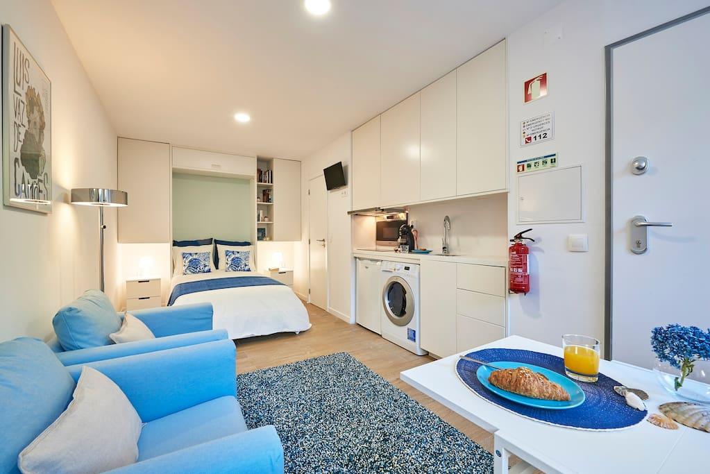 disposição do apartamento