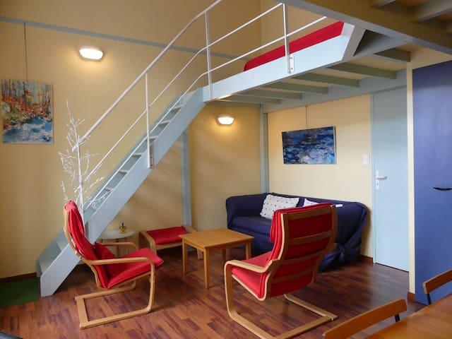Duplex 80m2 dans hôtel 1900 centre de Cauterets !! - Cauterets - Condominio