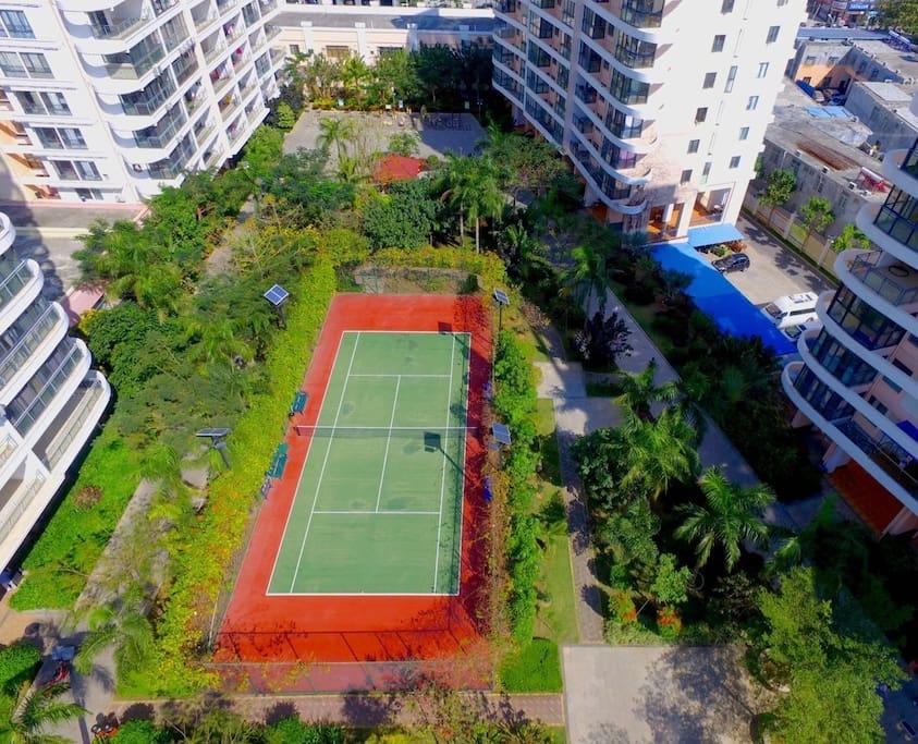 网球场地全天免费