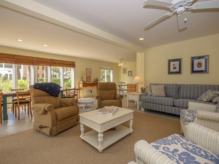 Spacious Living Room at 28 Canvasback