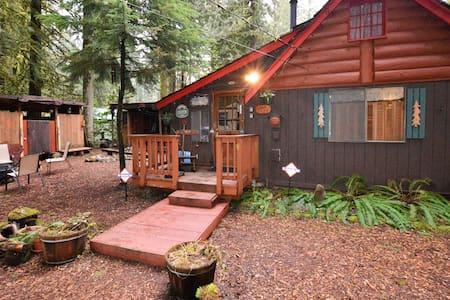 Cozy log cabin, WIFI, HOT TUB & SAUNA