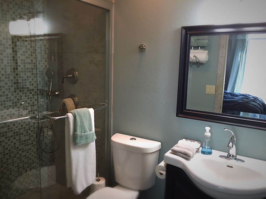 Private Master bathroom with dual showerheads.