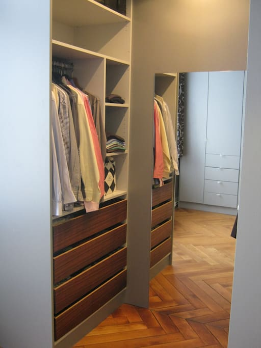 With ample wardrobe space