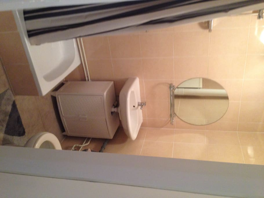 Private bathroom with shower and toilet. Hot water available all the time, automatic ventilation is available.