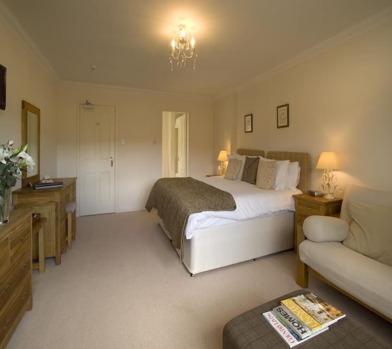 Our sole `Junior Suite` room (Spey) - with integrated seating area & mini fridge