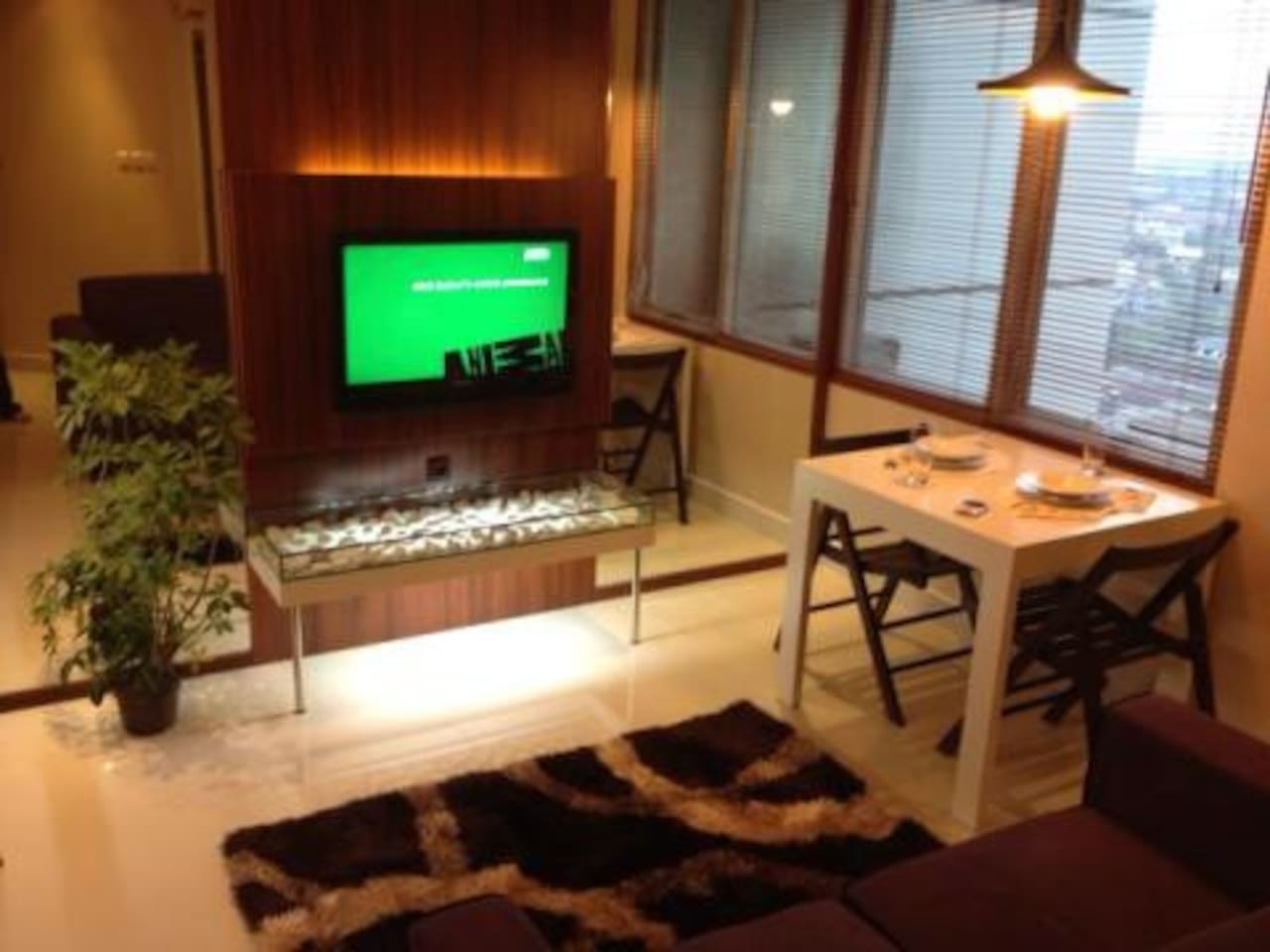 Our another 1BR apartment located in CBD area of Jakarta, and in the same building (17th floor) with cozy and minimalist design with all facilities : microwave, dispenser, cable TV, washing machine, and internet. Also you can use our apartment facilities