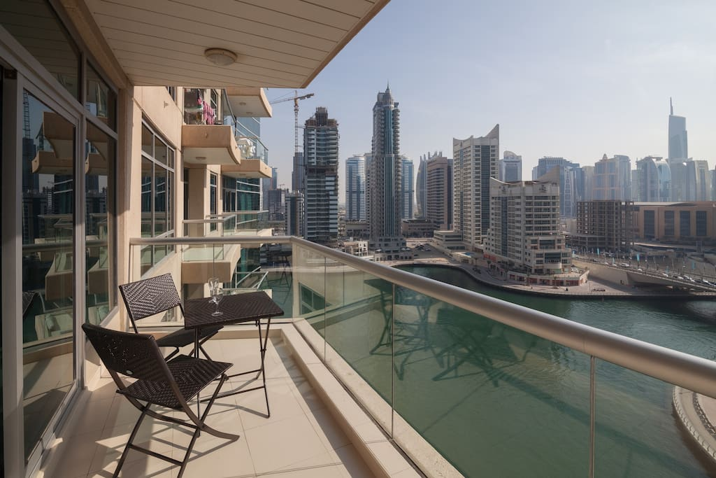 Enjoy stunning waterfront views of the Dubai Marina from your own spacious terrace