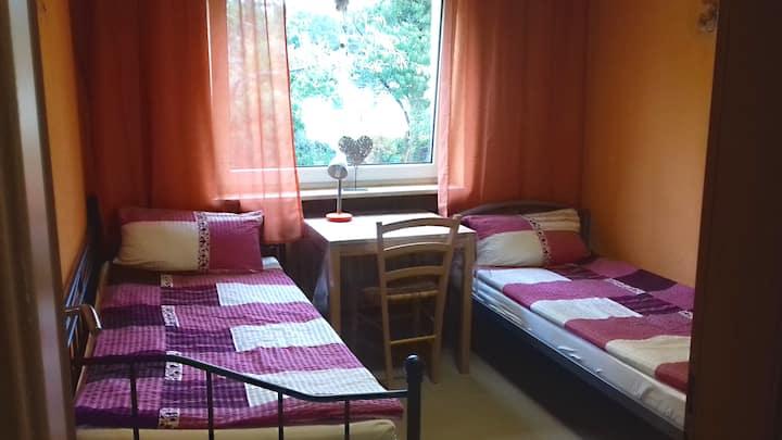 Monteurzimmer für 2 Personen mit WLAN