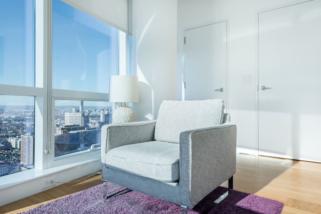 Standard One Bedroom Apartment Nook For Reading or Relaxing With A Beautiful Serene View