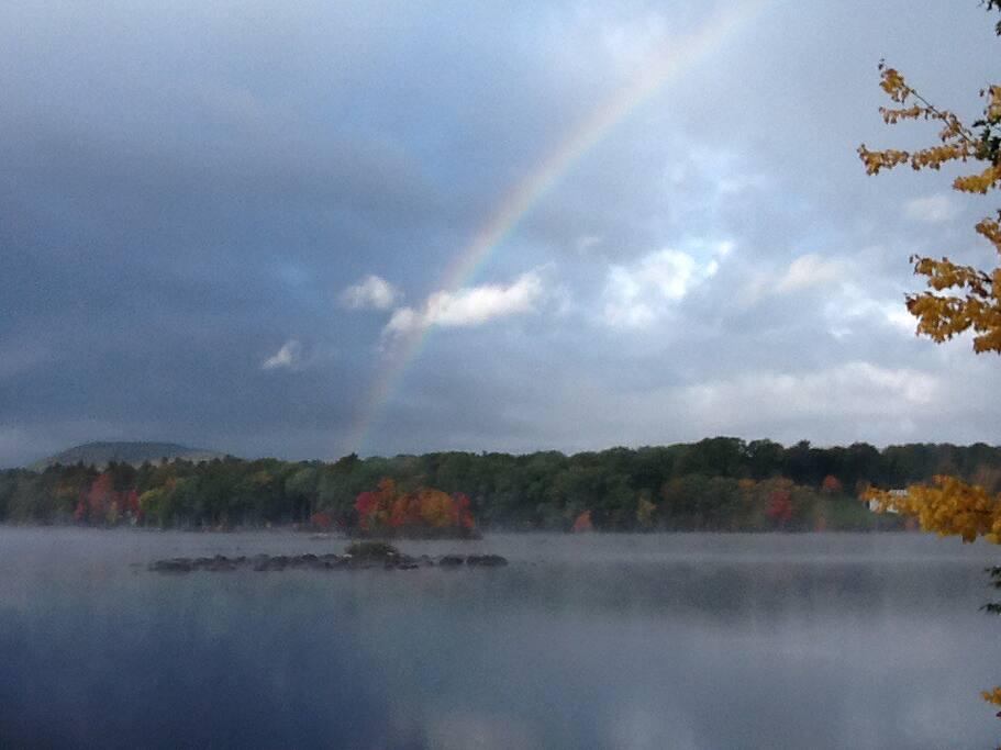Afternoon Fall Rainbow.