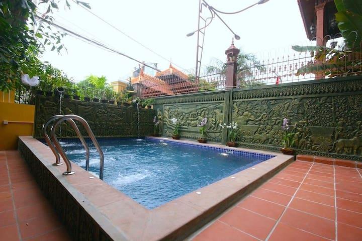 Elegant aircon room in Siem Reap - Krong Siem Reap - Apartment