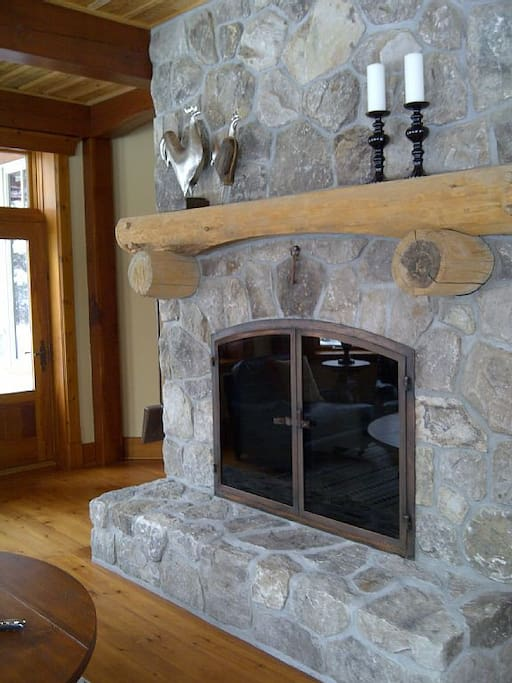 One of many fireplaces