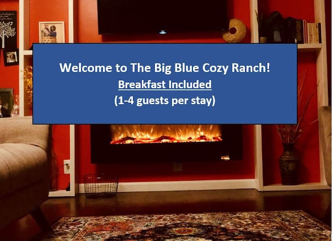 The Big Blue Cozy Ranch near Convention Center
