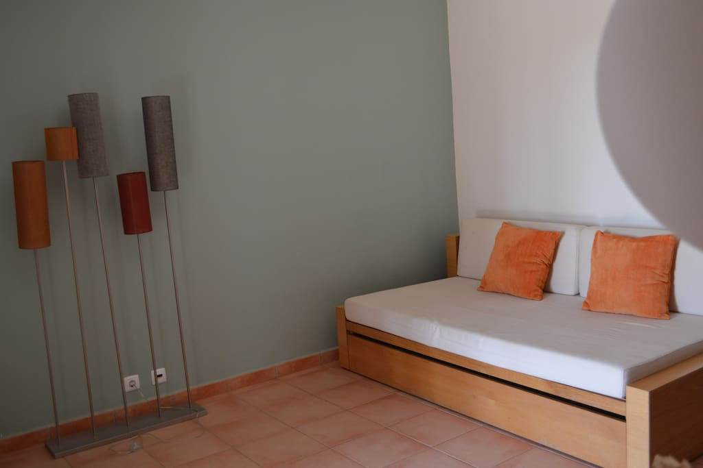 Living room and sofa (2 single beds)