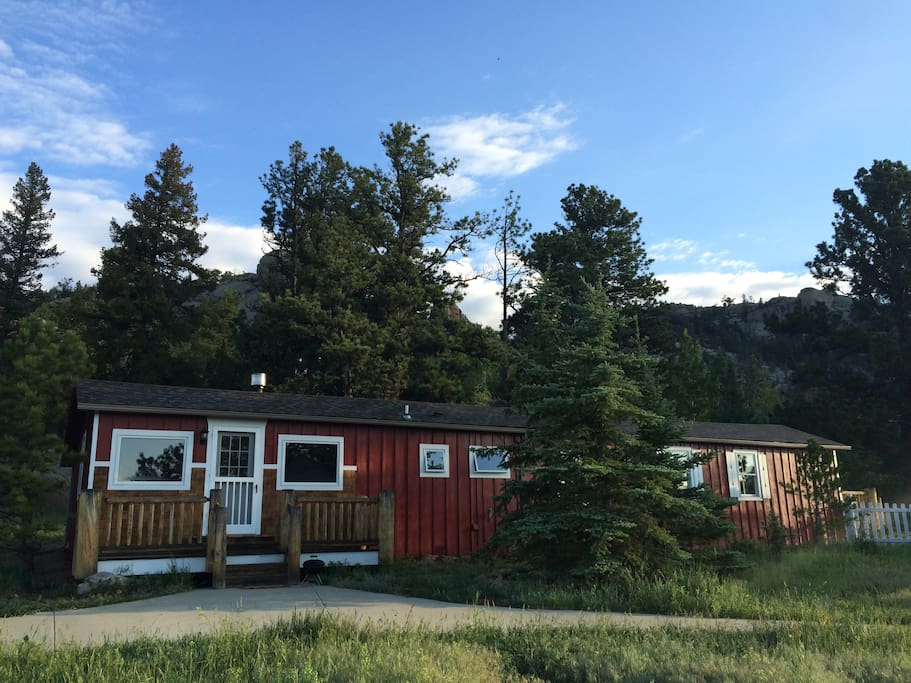 Mountain view pet friendly cabin houses for rent in for Estes park dog friendly cabins
