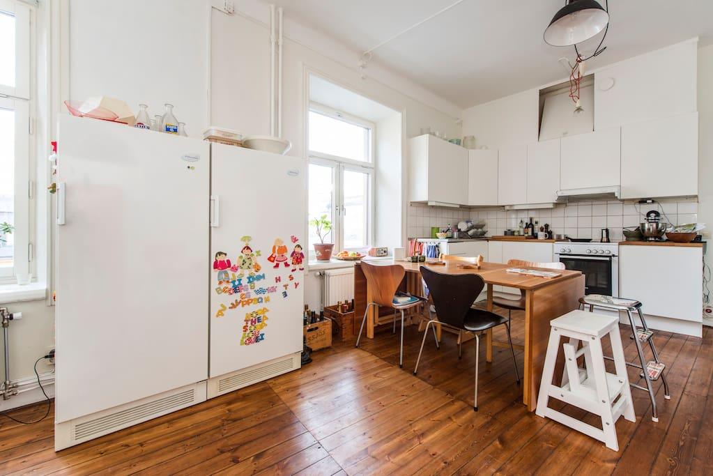 Kitchen/livingroom.