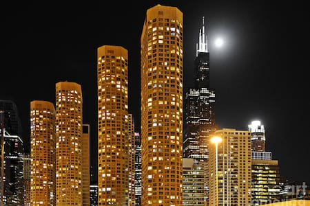 Sightseeing Studio with Super-equipped Facilities - Chicago - Apartment