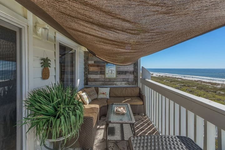 Gulf Front, St Joe Beach, Updated In Everyway, Top Floor Corner Unit ~ The Posh Pearl
