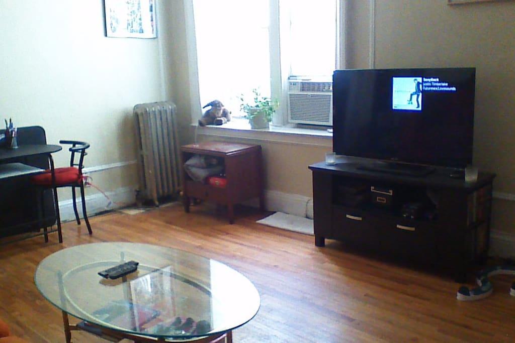 42in tv in living room