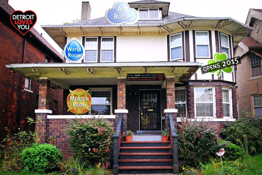Detroit Loves You Guest Home welcomes you - new stairs, front walk, and landscaping!