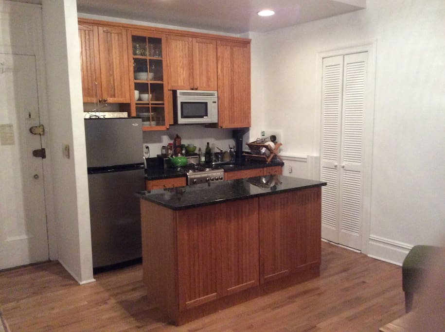 Kitchen, fully stocked with anything you need to cook