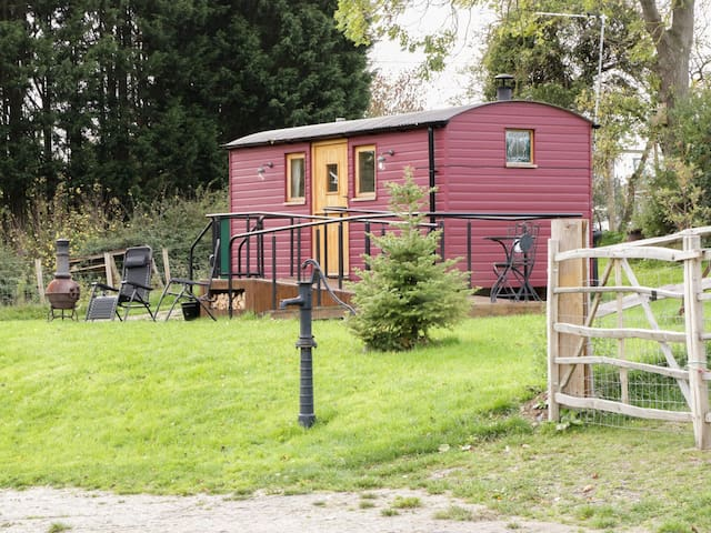 THE SHIRE HUT, pet friendly, with open fire in St Asaph, Ref 955259