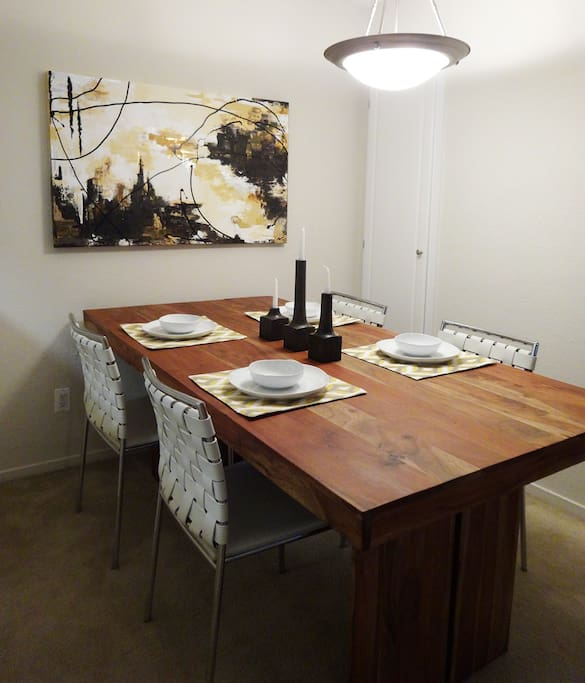 Large and modern dining table to enjoy any meal