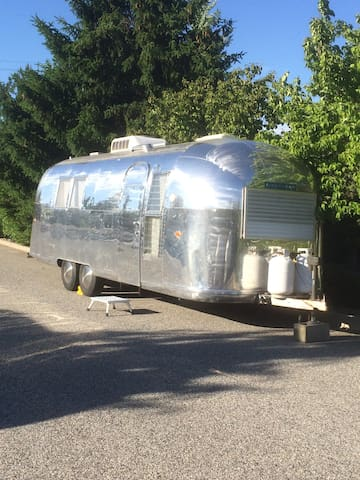 Vintage Airstream with All the Comforts