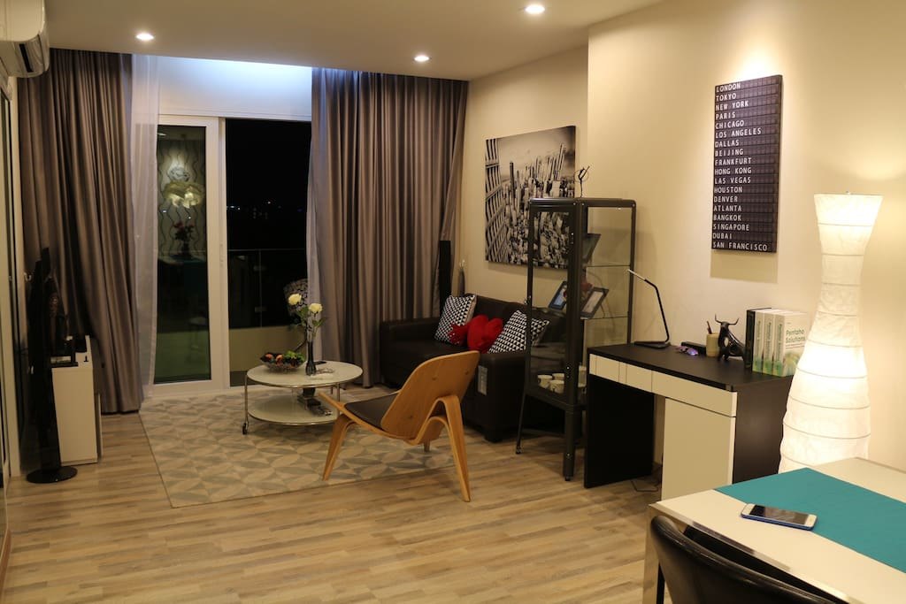 47sqm Spacious apartment  on the 6th floor, fully furnished.