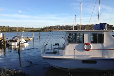 Unique Houseboat, River Deben. - Woodbridge - 船