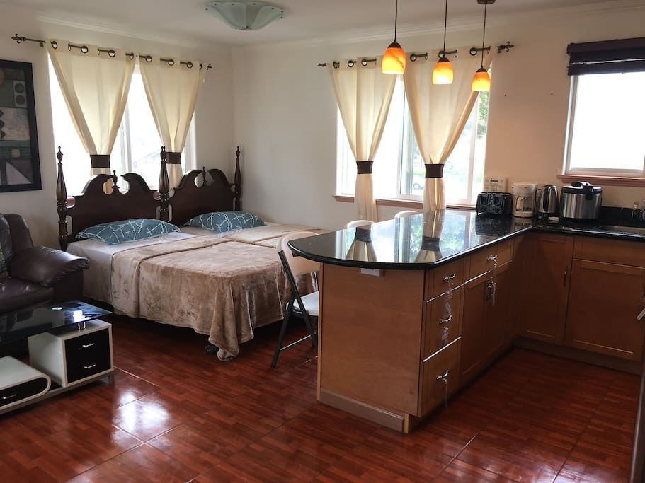 living room and part of kitchen