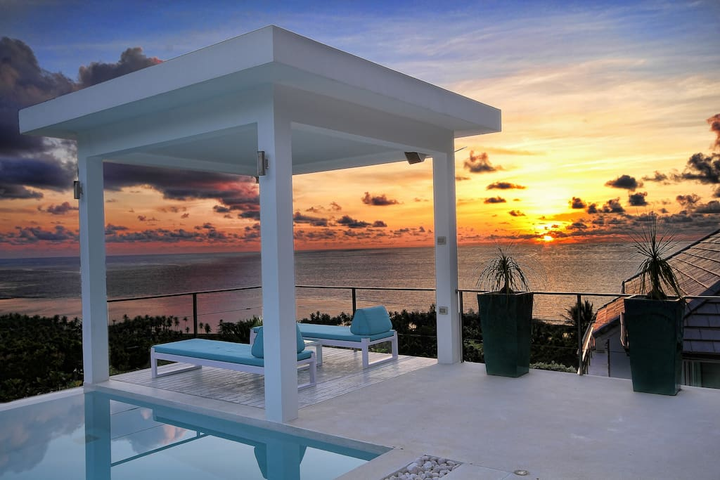 SUNRISE FROM THE POOL
