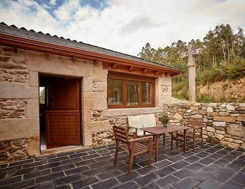Casa con chimenea en el campo-Viveiro-Lugo