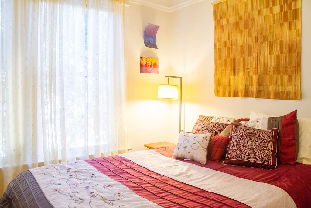 The Golden Gate room is a cozy room; comfortable for 2 people
