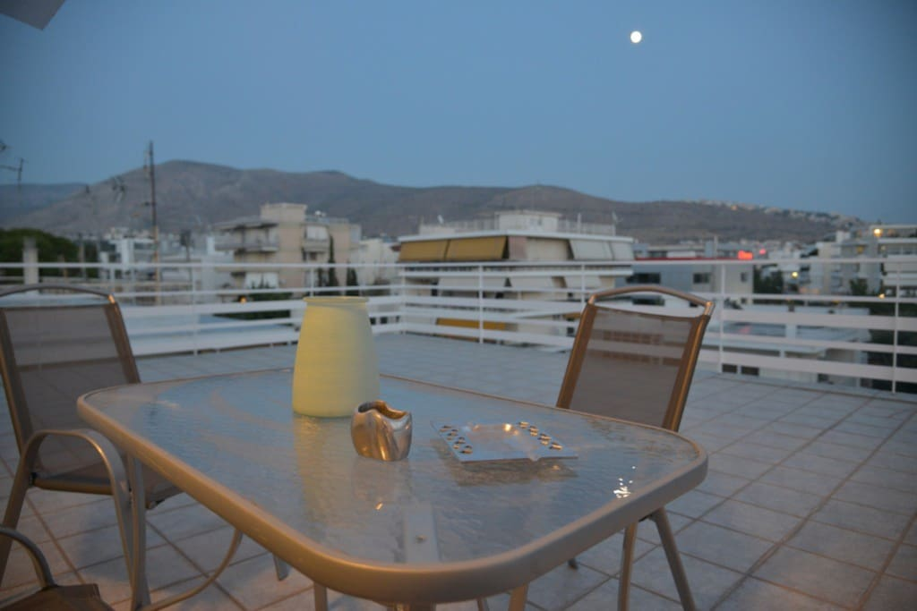 The apartment is at the top floor.Relax at the veranda with unlimited view
