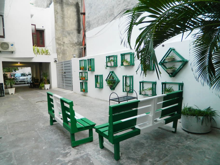 The in-house cafe sitting area