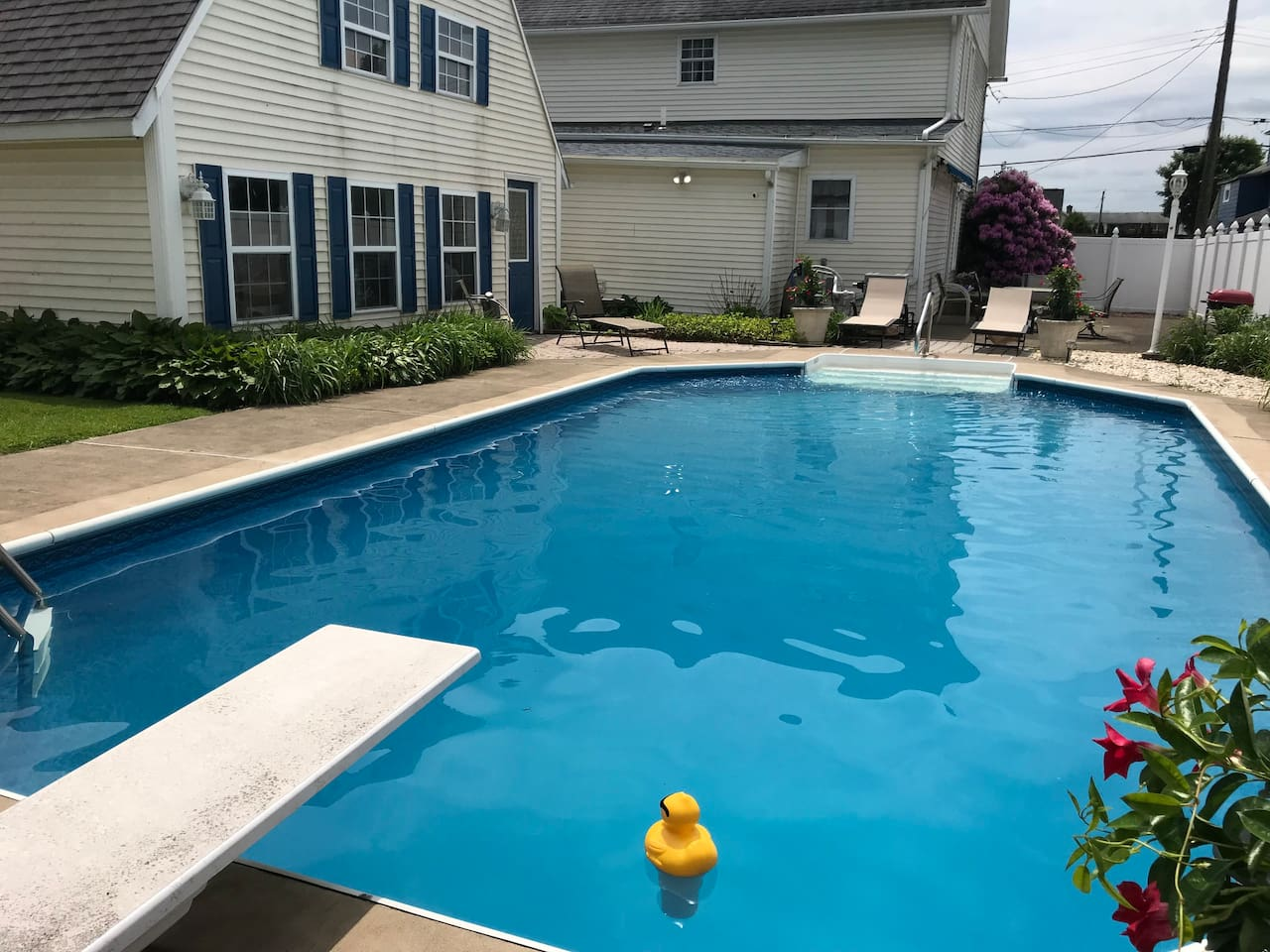 * Pool will be closed for the season 9/15/2019. Relax and enjoy in the in ground  pool.  Beach towels are provided for you.