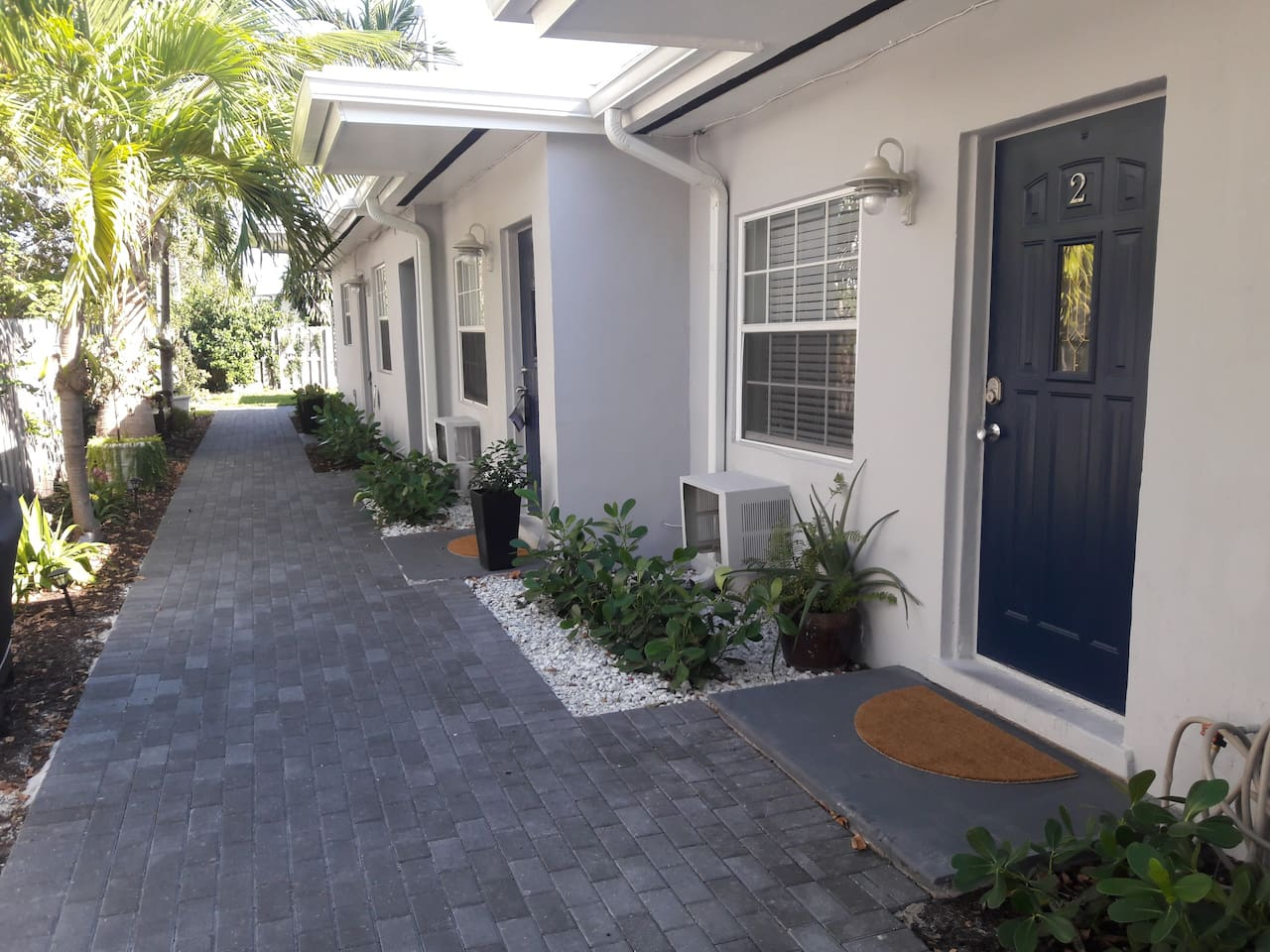 Here's the walkway to your front door