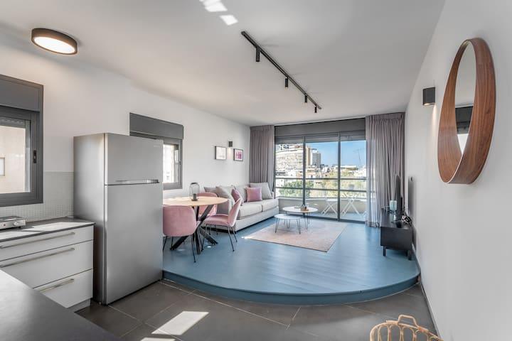 Bograshov area - Modern&sunny 1 BD balcony&parking