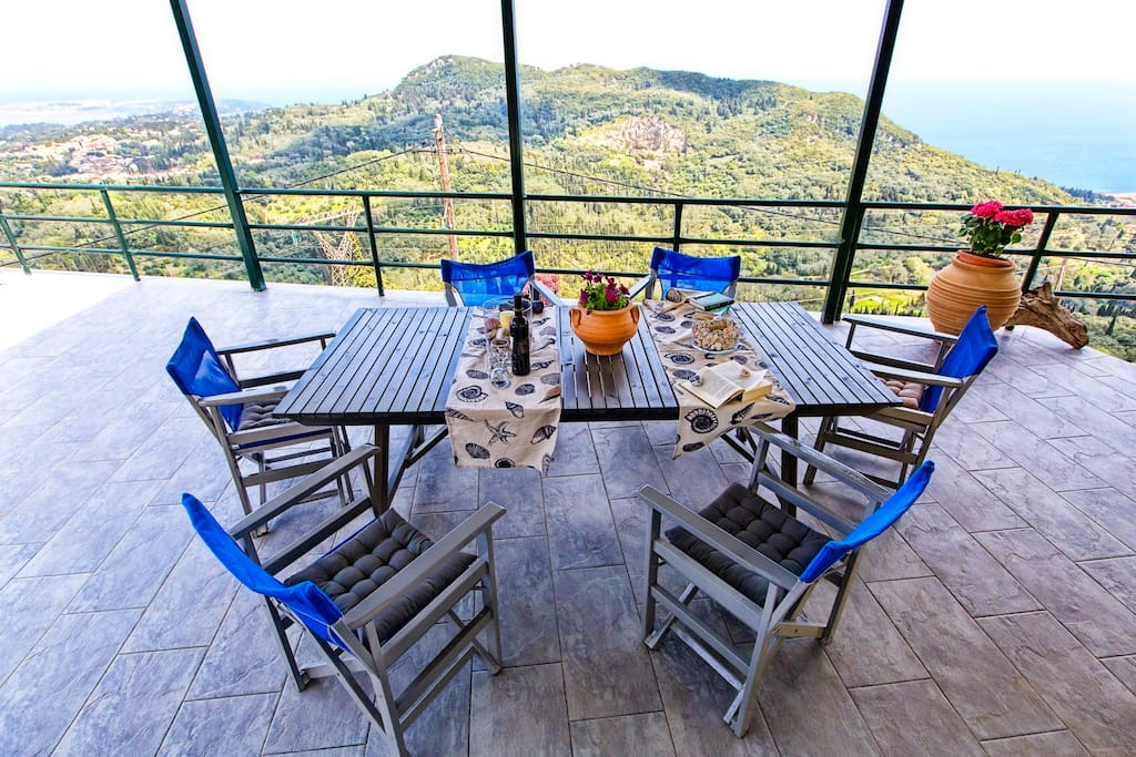 Palataki veranda with Panoramic views of Ionian Sea and Epirus