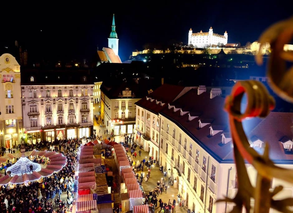 Enjoy winter edition Bratislava from the best location in Old Town