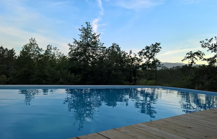 4* 10P gite in the nature-heated swimming pool