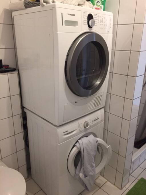 Waschmaschine und Trockner können nach Absprache genutzt werden.
