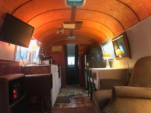 Vintage Airstream Trailer at The Edge of the Woods