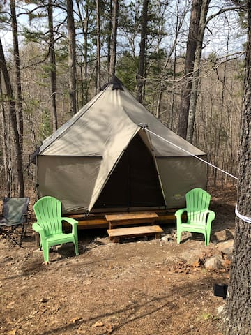 Glamping at Two Rivers Ozark Cabins