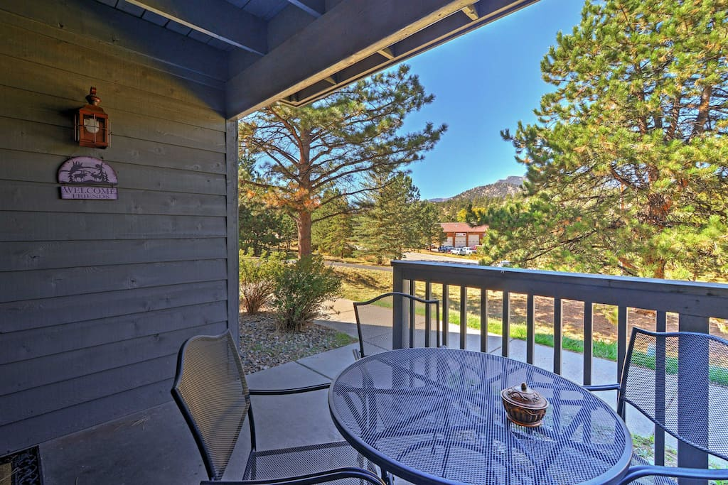 Relish Colorado's dreamy weather from the private patio.
