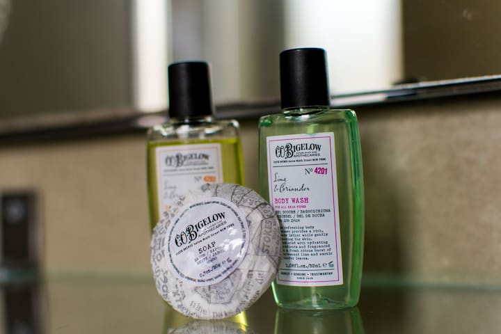 Enjoy quality bath products by the brand CO Bigelow