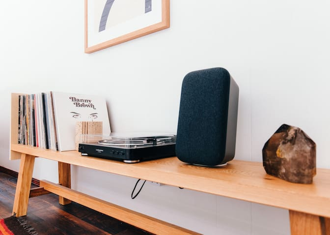 Record player and google speaker
