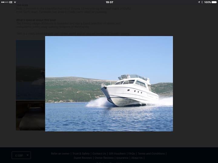 Corfu Greece 4 birth power boat